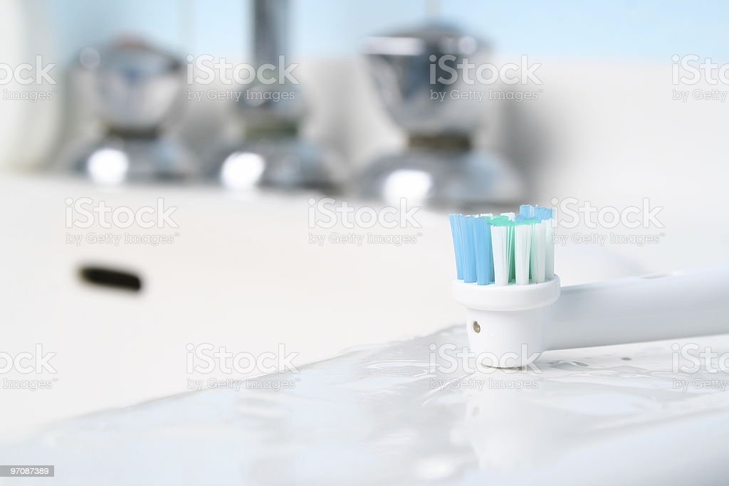 Closeup of a sink; very bright royalty-free stock photo