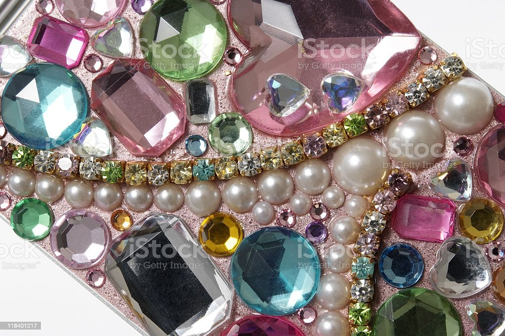 Close-up of a smart phone decoration royalty-free stock photo