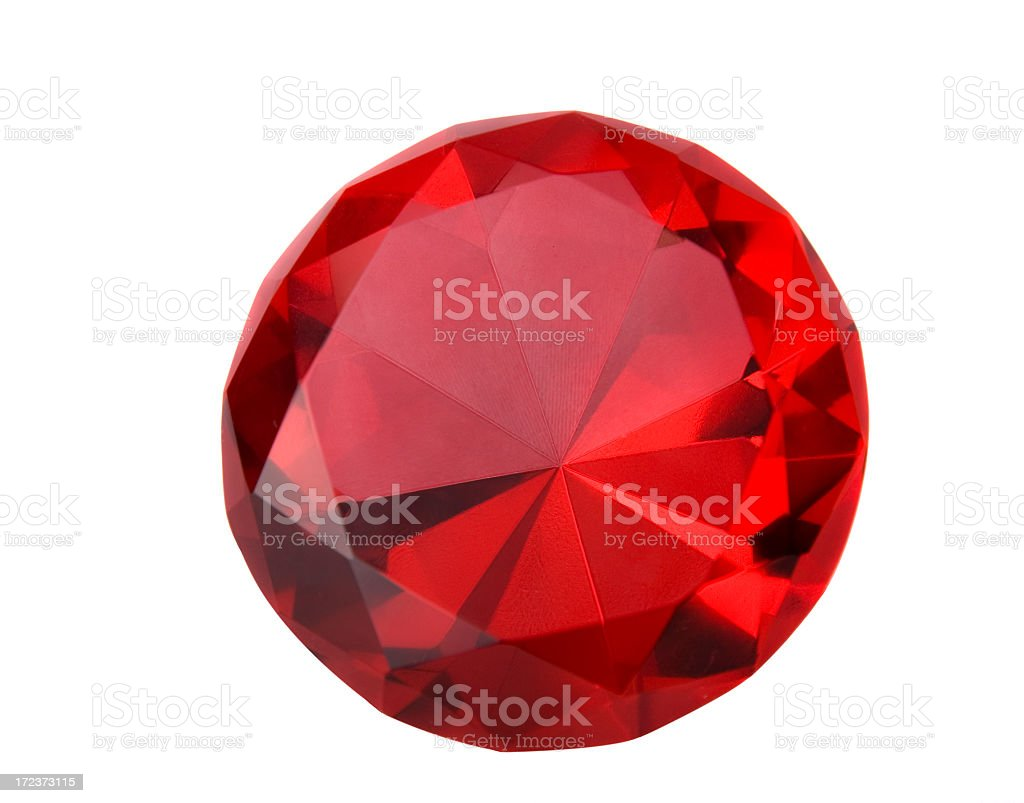 Close-up of a sparkling red ruby stock photo