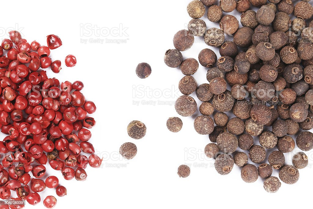 Closeup of a spicy hot peppercorns. royalty-free stock photo