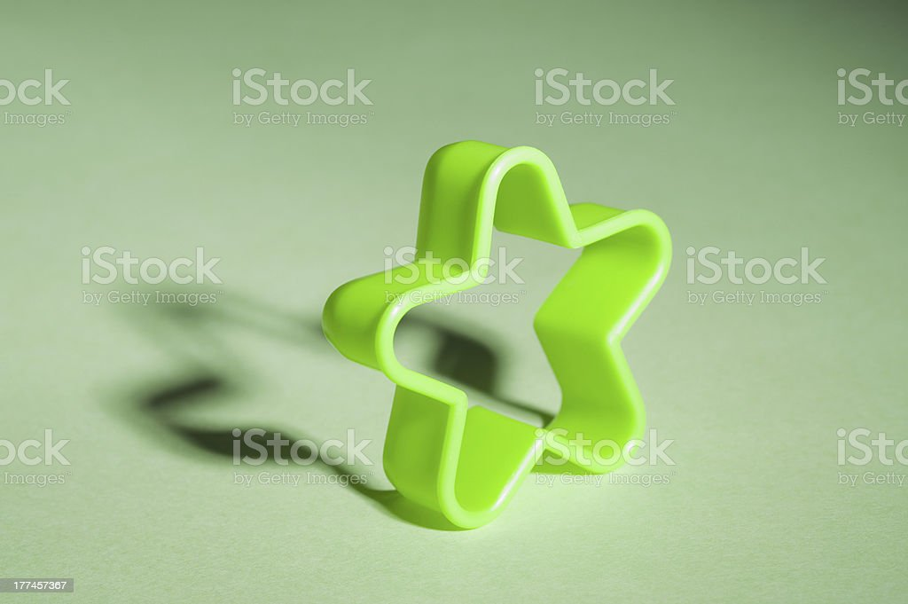 Close-up of a star shaped cookie cutter royalty-free stock photo