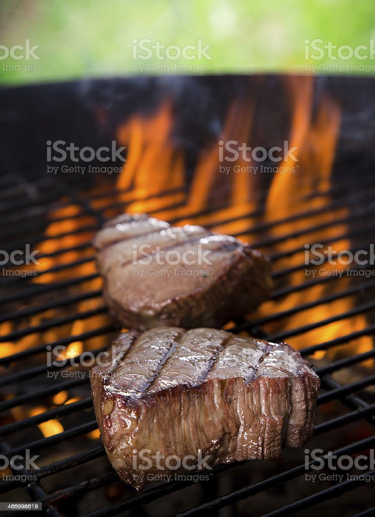 closeup of a steak royalty-free stock photo