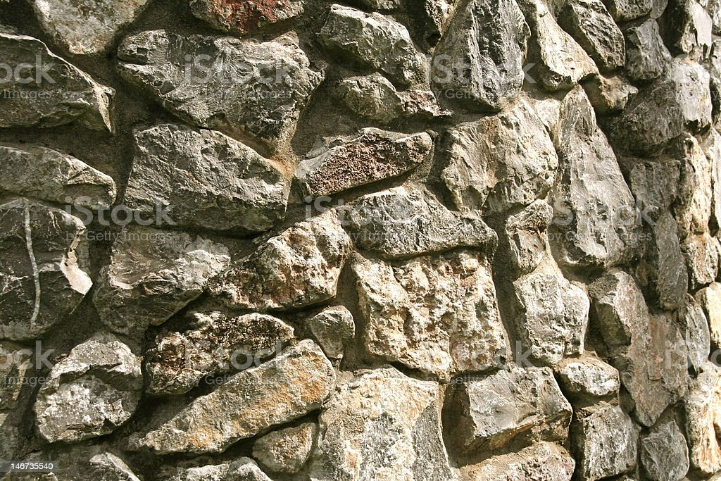 Close-up of a stone wall stock photo