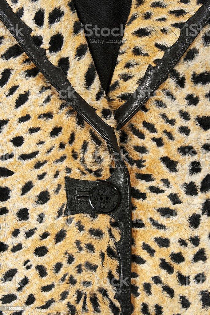 Close-up of a stylish leopard jacket royalty-free stock photo