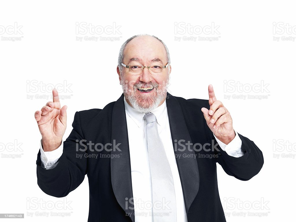 Close-up of a successful mature businessman royalty-free stock photo