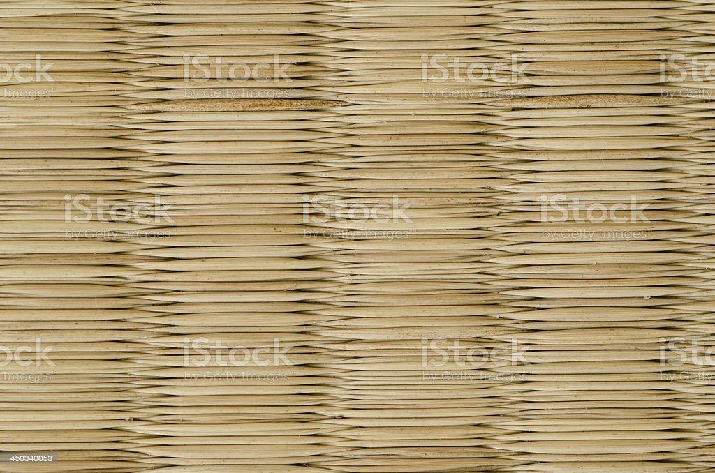 Closeup of a tatami mat royalty-free stock photo