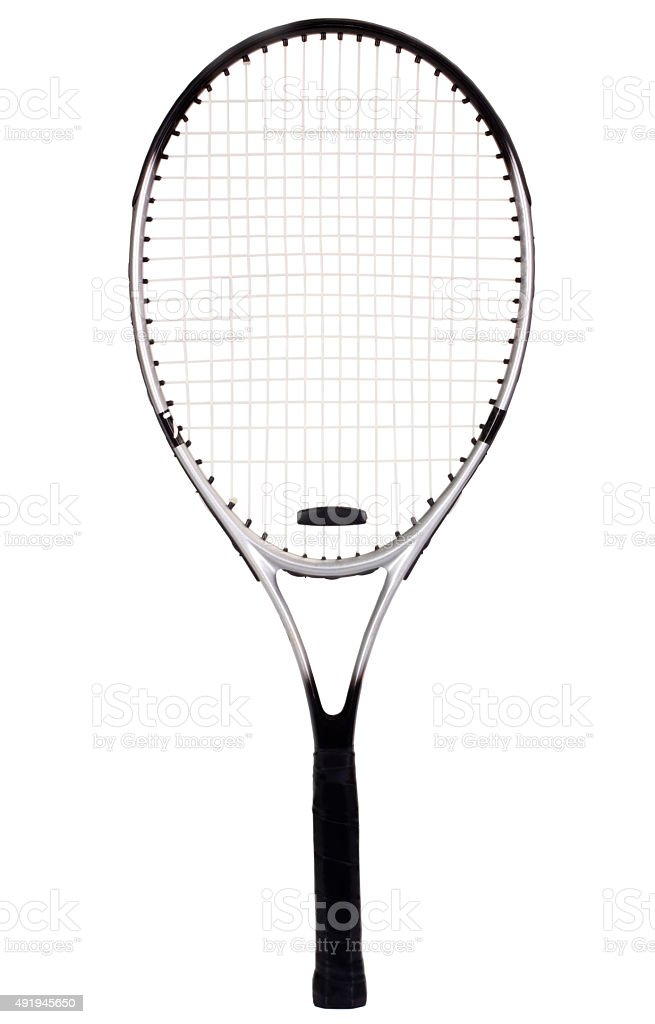 Close-up of a tennis racket stock photo