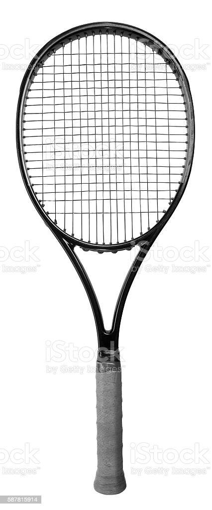 Close-up of a tennis racket stock photo