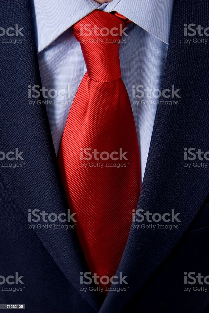 Closeup of a tie. Shallow depth-of-field royalty-free stock photo