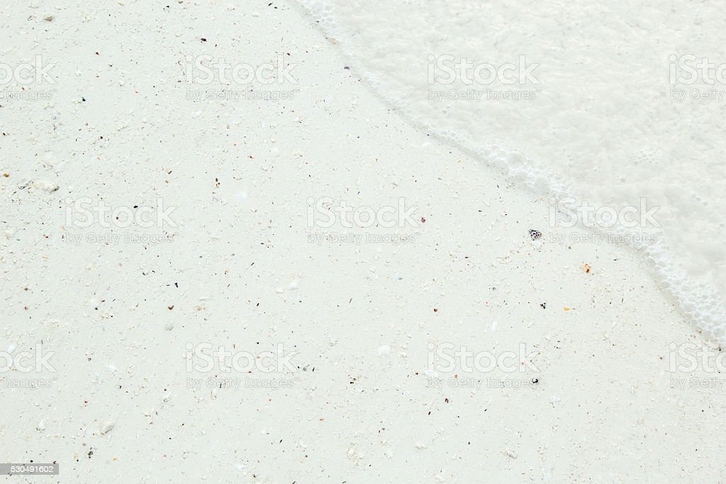 Close-up of a tropical beach with white sand stock photo
