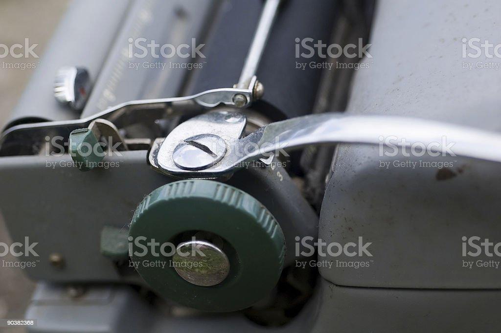 Closeup of a Typewriter royalty-free stock photo