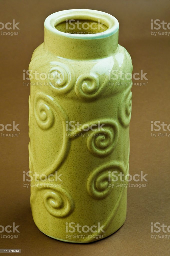 Close-up of a vase royalty-free stock photo