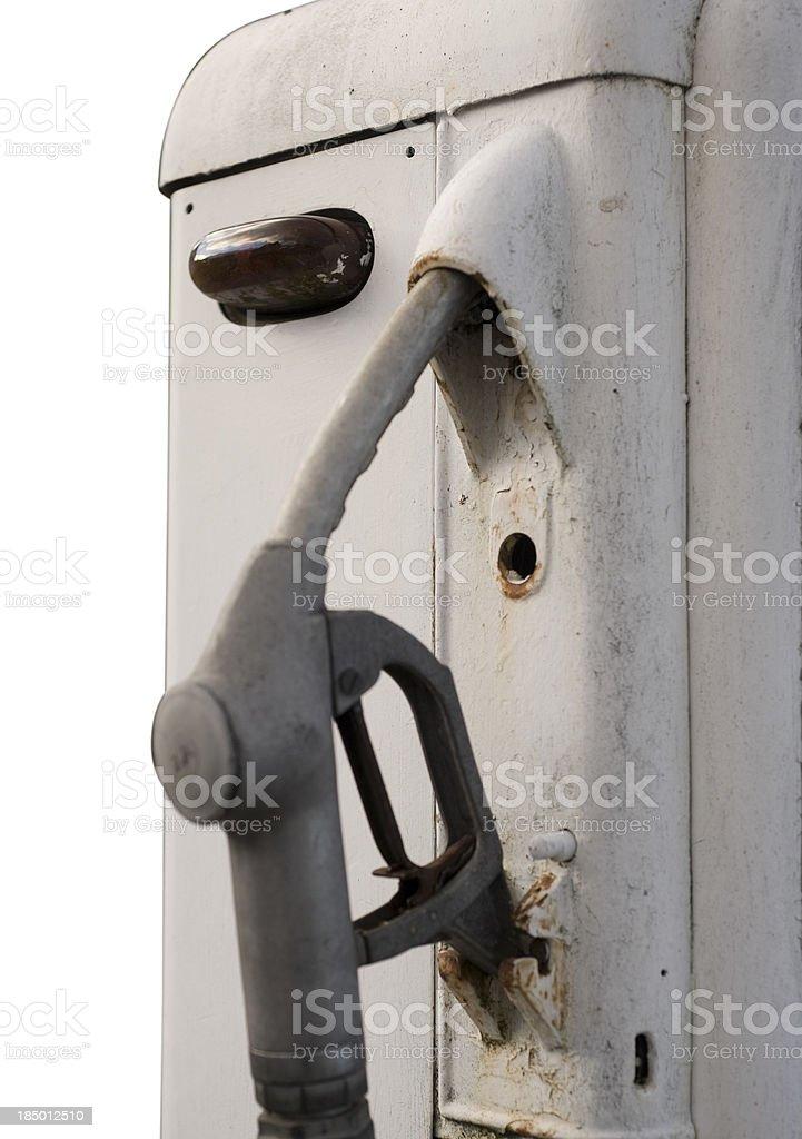Close-up of a vintage fuel pump stock photo