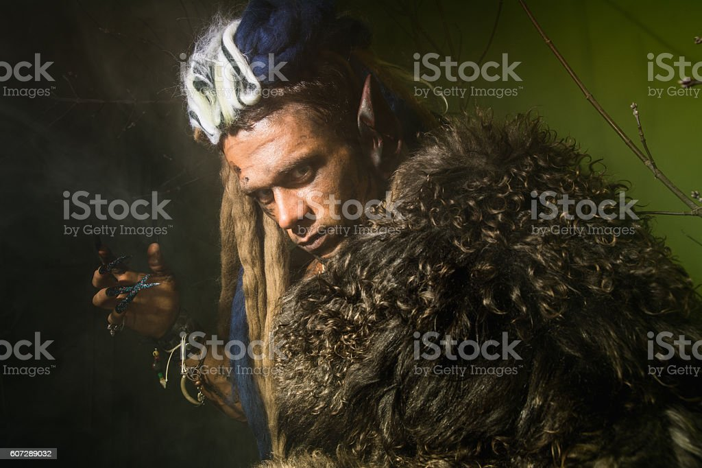 Close-up of a werewolf with stock photo