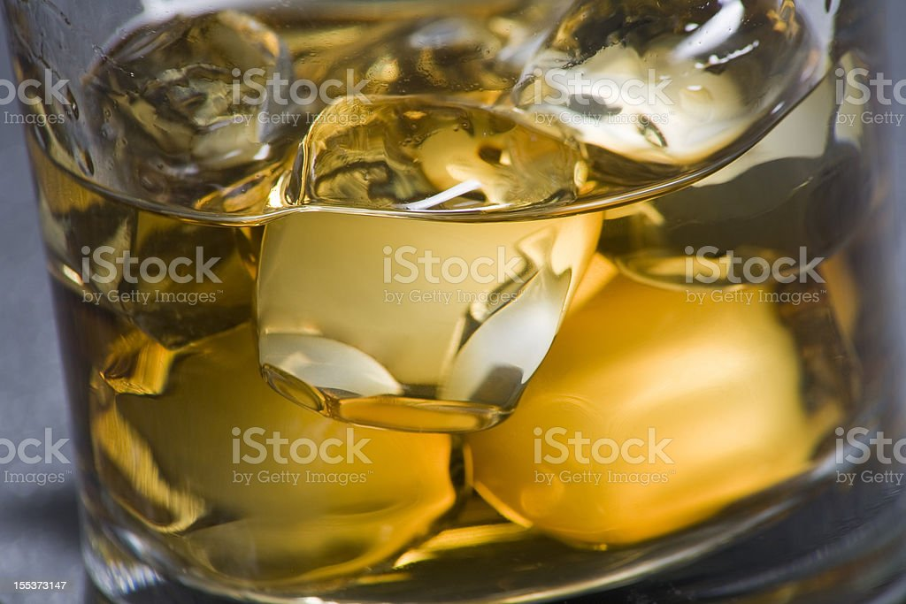 Close-up of a whisky glass stock photo