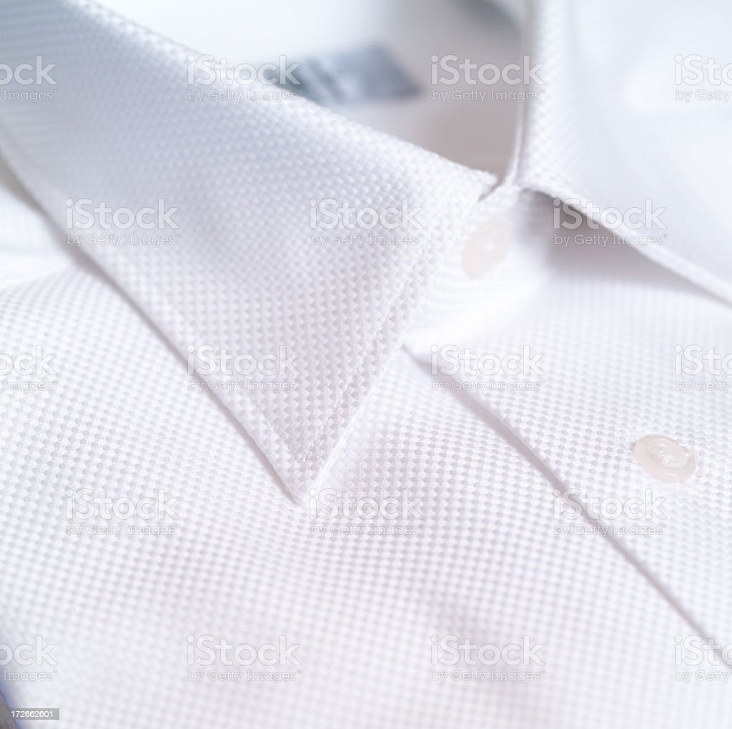 A close-up of a white dress shirt royalty-free stock photo