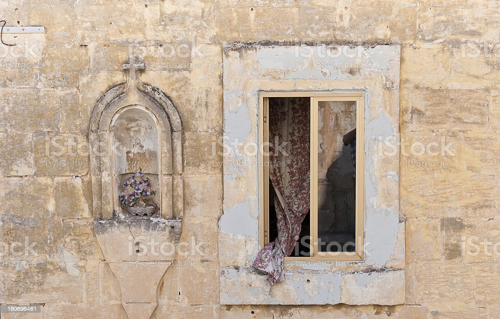 Closeup of a Window in Malta royalty-free stock photo