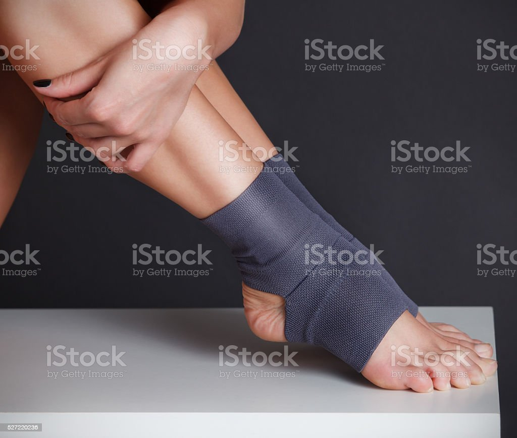 Close-up of a woman foot stock photo