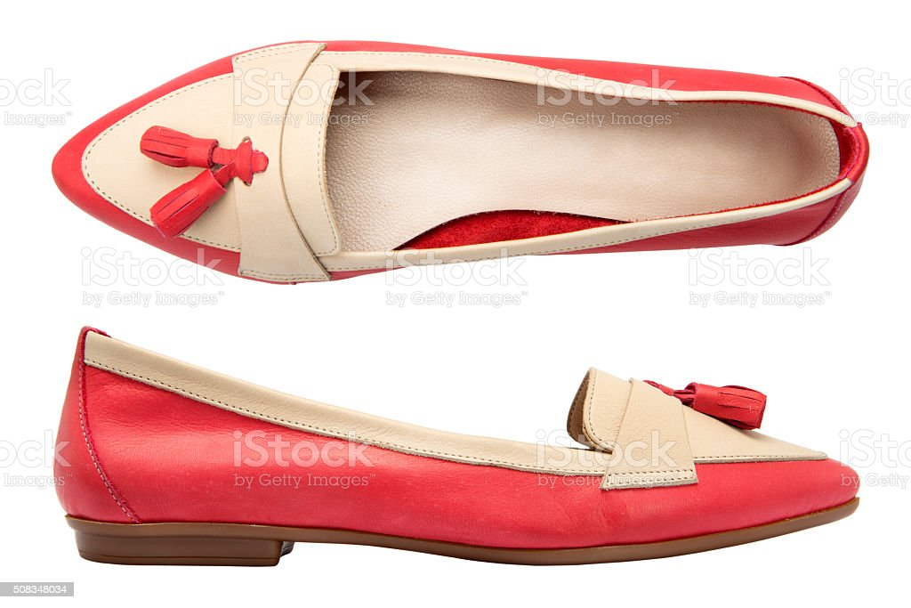 Close-Up Of A Women Shoes stock photo