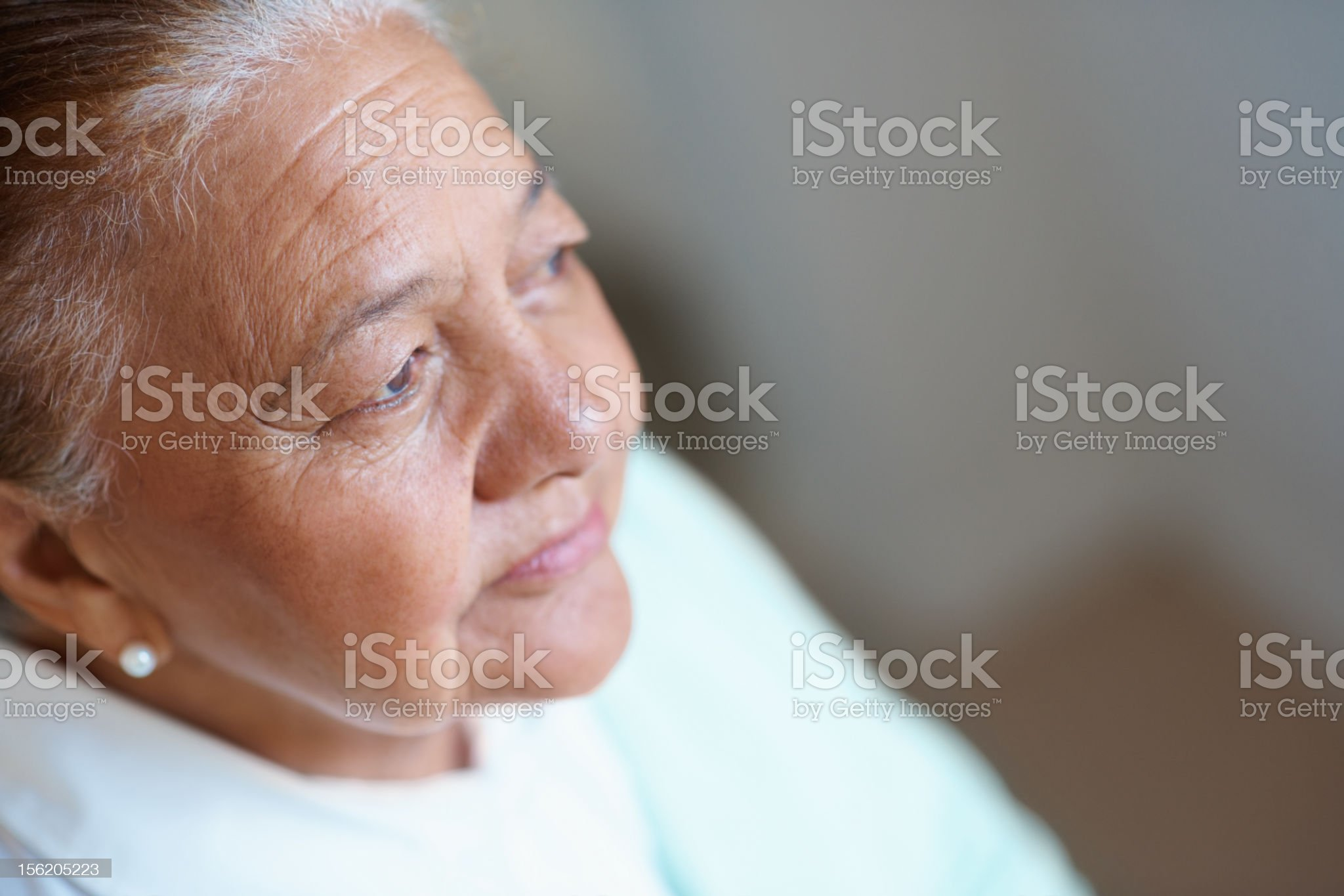 Close-up of a worried old woman royalty-free stock photo