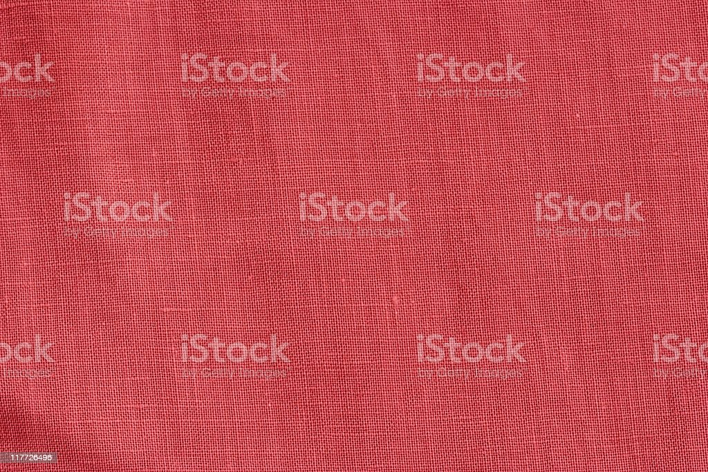 Close-up of a woven fabric in red royalty-free stock photo
