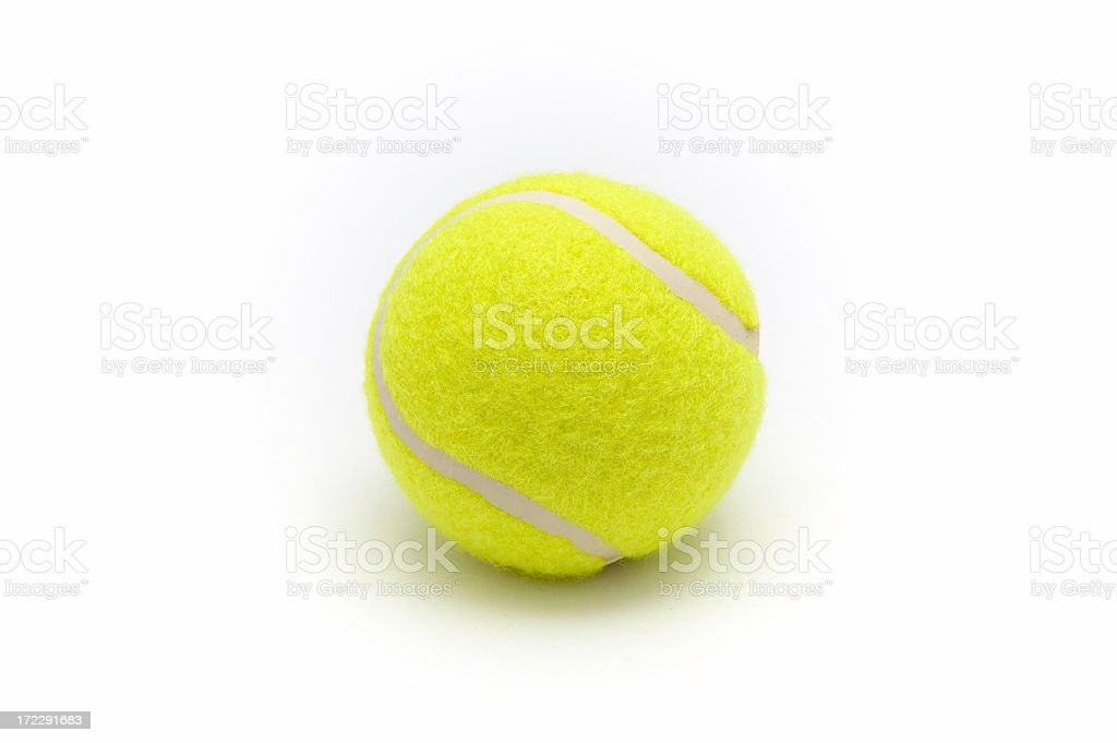 Close-up of a yellow tennis ball royalty-free stock photo