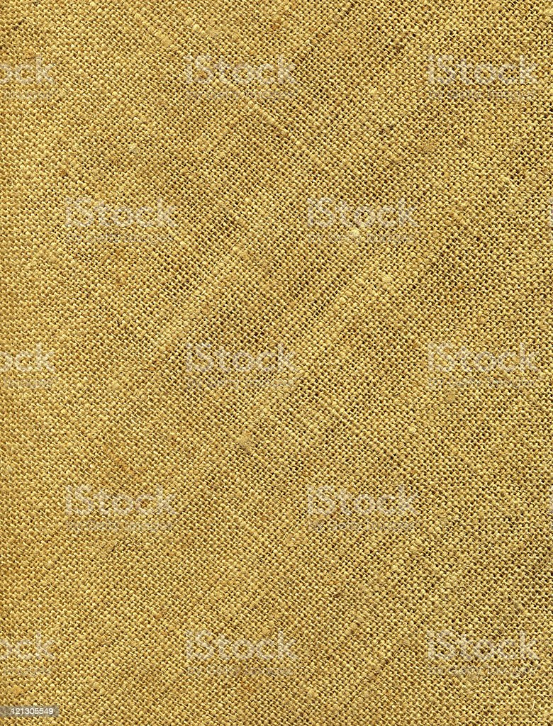 Closeup of a yellowish old burlap stock photo