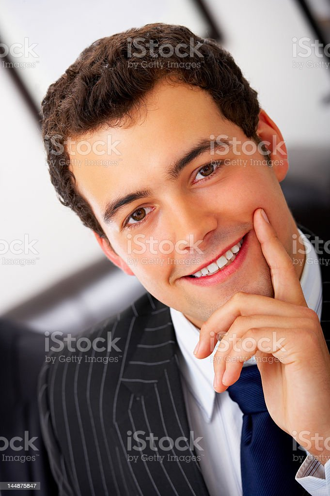 Close-up of a young ambitious businessman royalty-free stock photo