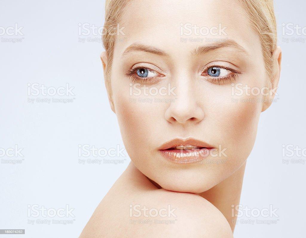 Closeup of a young beautiful woman royalty-free stock photo