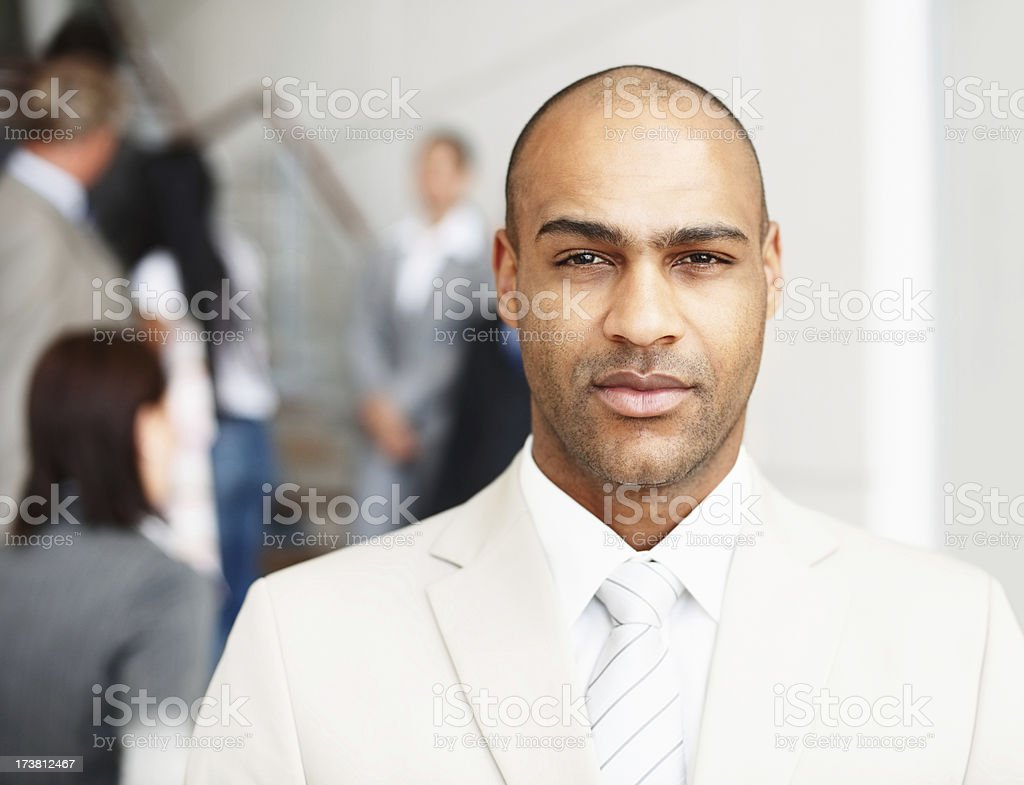 Close-up of a young businessman royalty-free stock photo