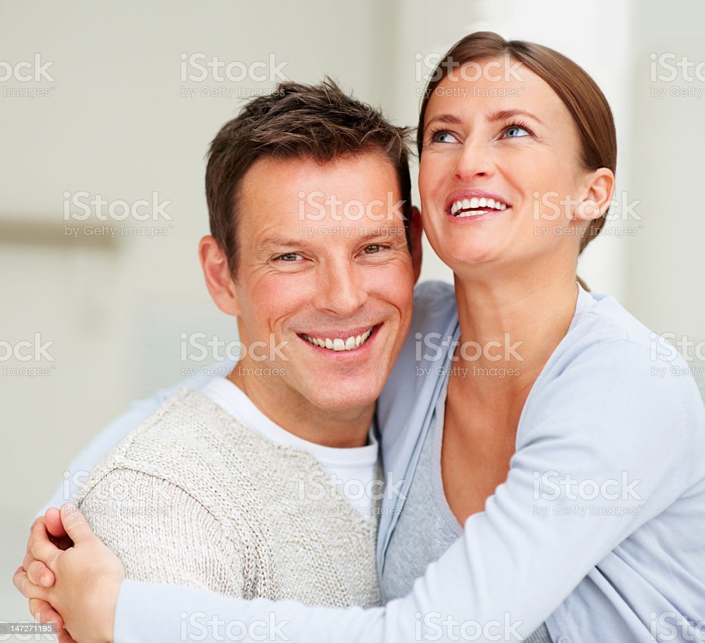 Close-up of a young couple having fun royalty-free stock photo