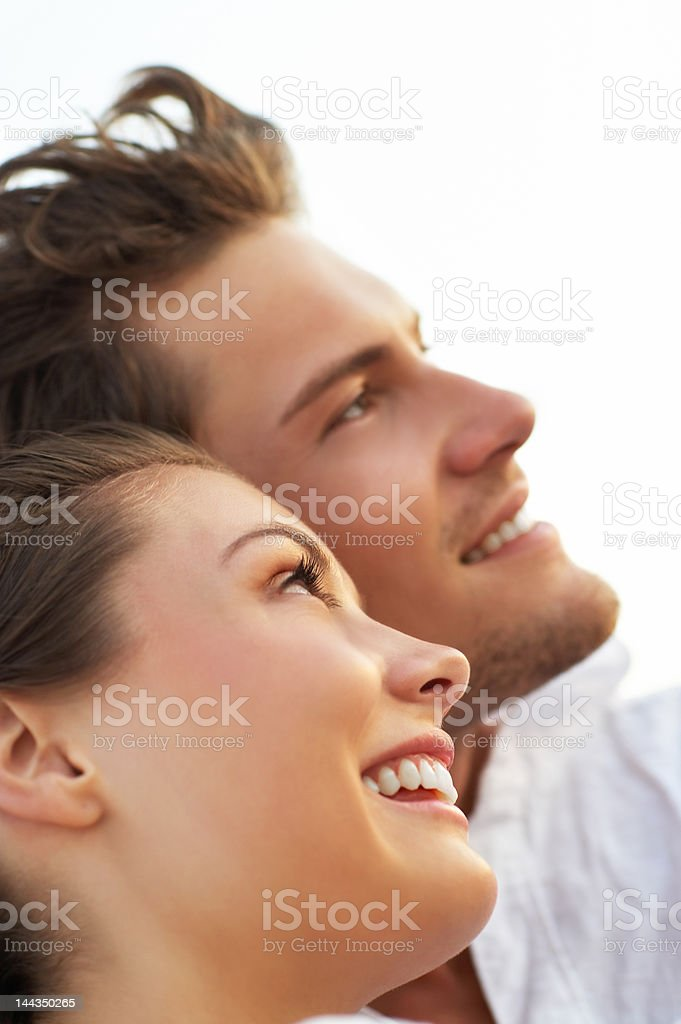 Close-up of a young couple loving royalty-free stock photo
