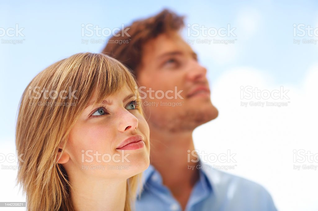 Close-up of a young couple royalty-free stock photo