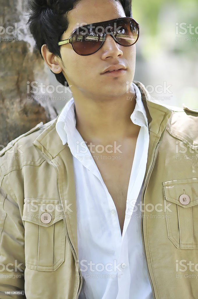 Close-up of a young man royalty-free stock photo