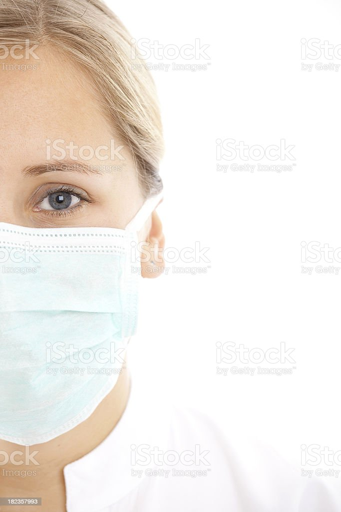 Close-up of a young woman doctor royalty-free stock photo