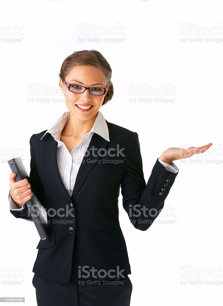 Close-up of a young woman gesturing royalty-free stock photo