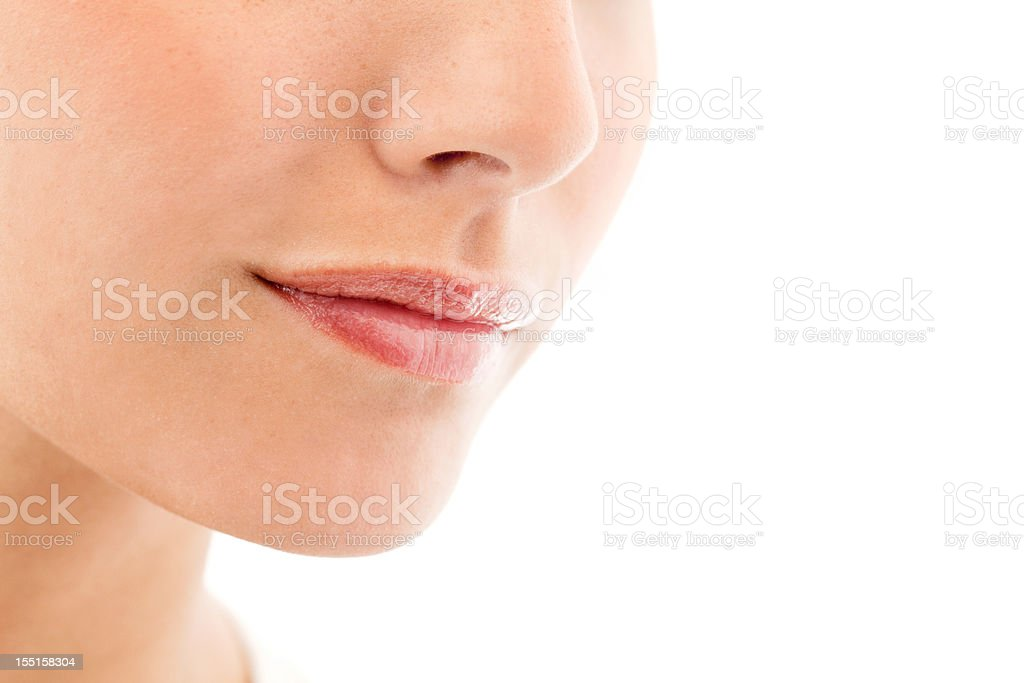 Closeup of a Young Woman - Isolated stock photo