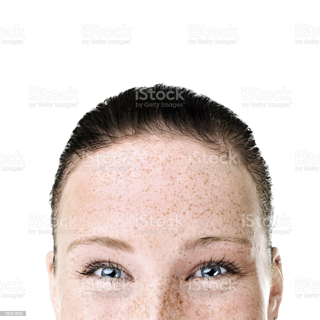 Close-up of a young woman stock photo