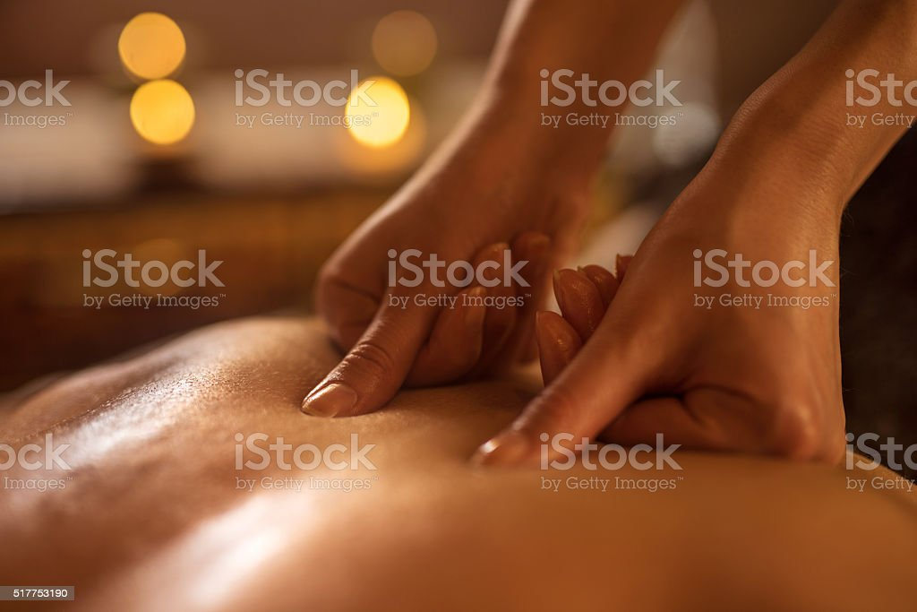Close-up of alternative therapy at the spa. stock photo