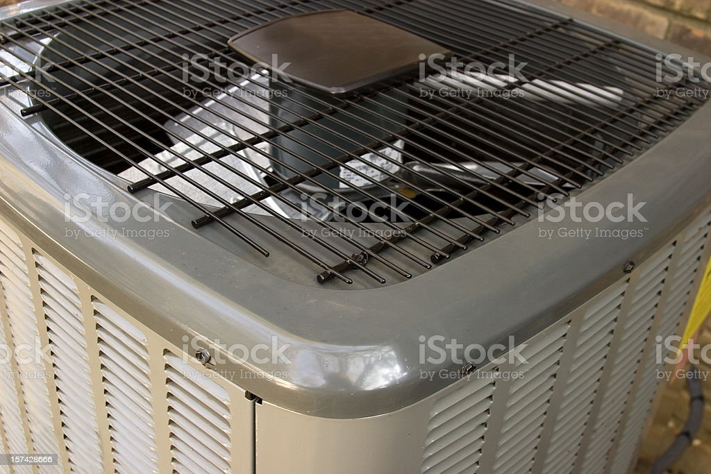 Close-up of an air conditioning unit stock photo