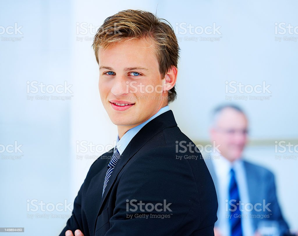 Close-up of an ambitious businessman royalty-free stock photo