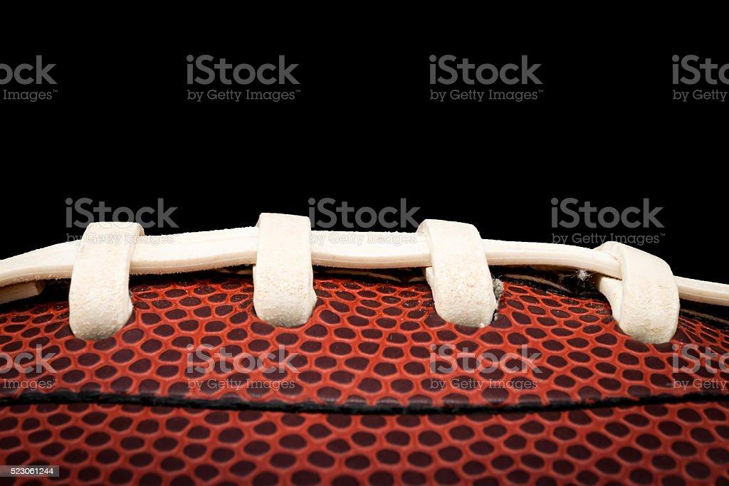 Closeup of an american football stock photo