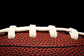 Closeup of an american football