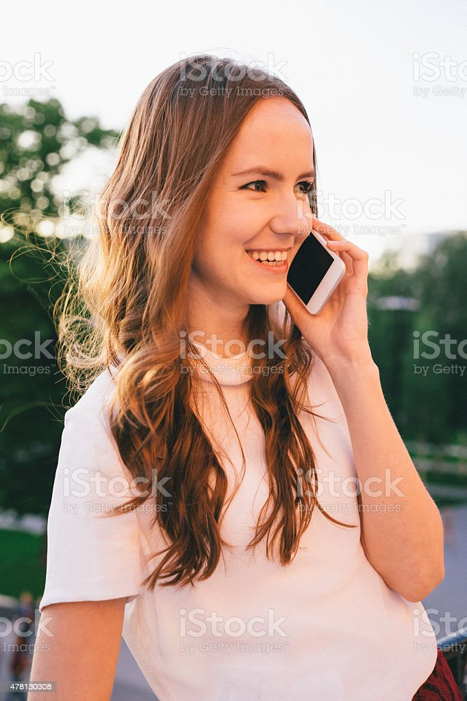 Close-up Of An Attractive Young Businesswoman On The Phone stock photo