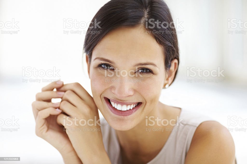 Close-up of an attractive young woman stock photo