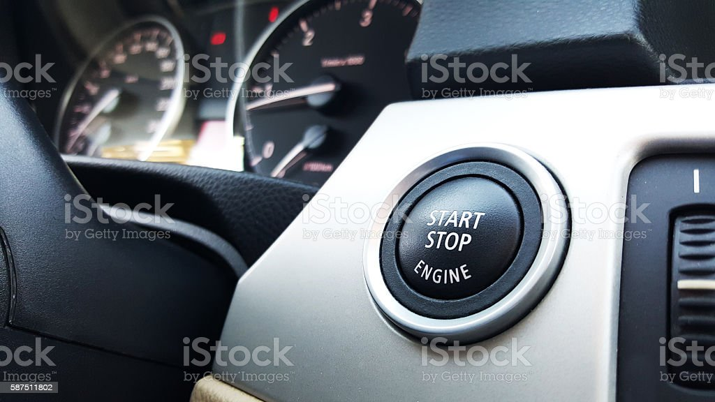Push the button to start the engine