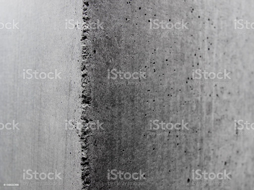 Closeup of an concrete corner stock photo