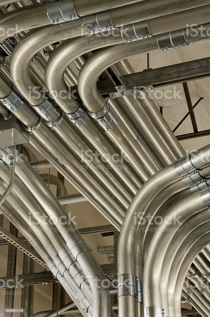 Close-up of an electrical conduit for a power supply royalty-free stock photo