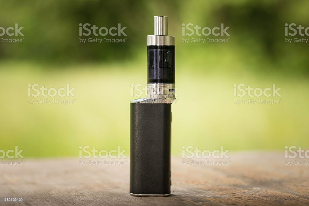 Close-Up of an Electronic Cigarette stock photo