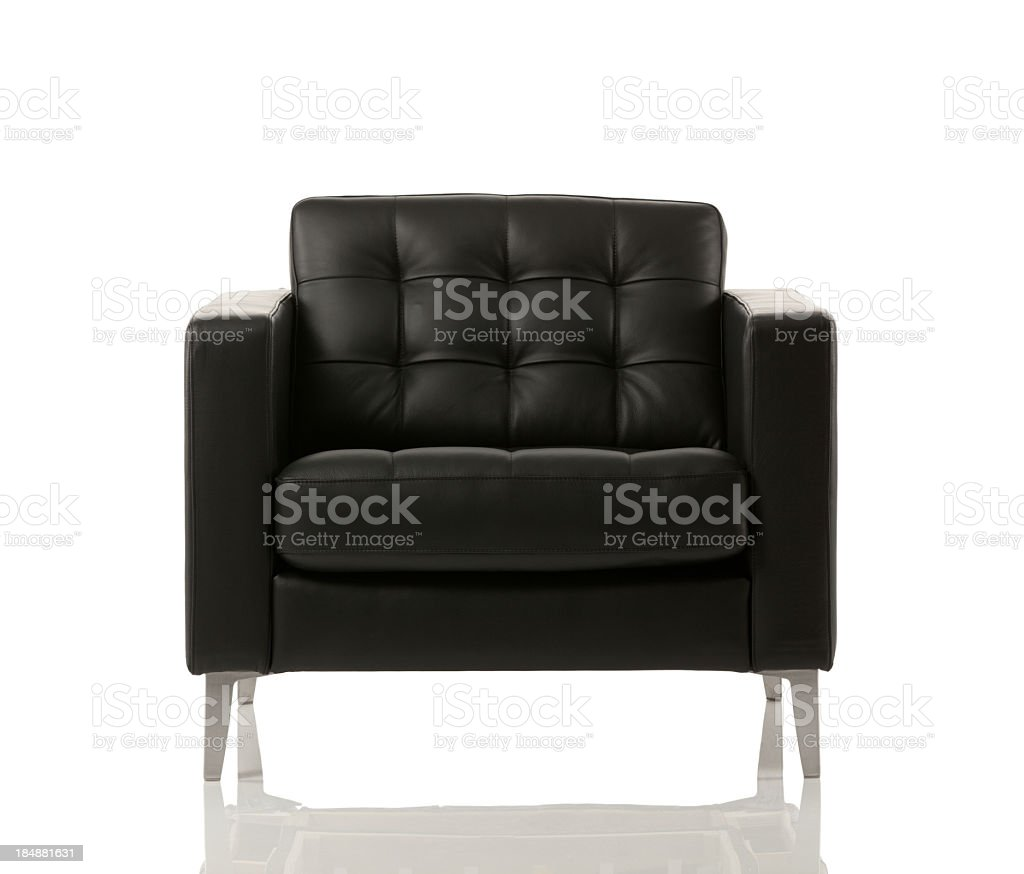 Close-up of an empty armchair stock photo